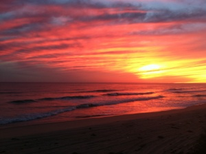 sunset no filter