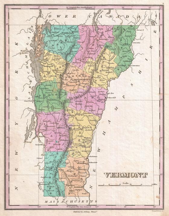 1827_Finley_Map_of_Vermont_-_Geographicus_-_Vermont-finely-1827